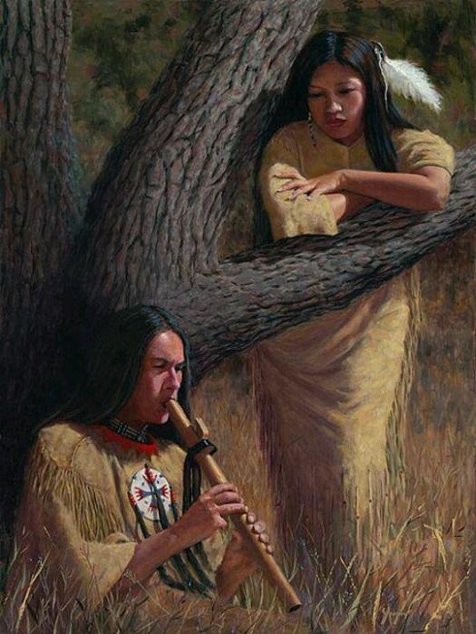 Индейцы, совсем как японцы эпохи Хэйан, полагались в деле соблазнения на звуки флейты.